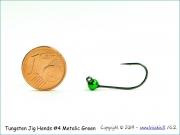 Volframinis galvakablis 4,2mm/0,55g (metalic green) Size#4