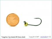 Volframinis galvakablis 4,8mm/0,85g (disco gold) Size#4